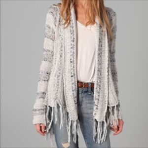 Free People Open Front Fringe Cardigan size small